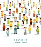 Modern multicultural society concept with people Royalty Free Stock Photography