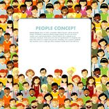 Modern multicultural society concept with seamless Royalty Free Stock Images