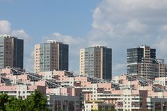 Modern multifamily housing Stock Images