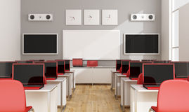 Modern multimedia classroom Royalty Free Stock Images