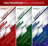 Modern multipurpose roll up banner. Multipurpose roll up banner, this template available in 3 different color schemes. Suitable for your product or corporate Stock Photo