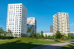 Modern multistory apartment buildings Royalty Free Stock Image