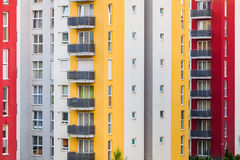 Modern multistory buildings Stock Images