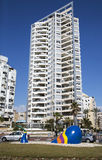 Modern multistory newest architecture in Bat Yam Royalty Free Stock Images