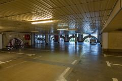 City multilevel parking Stock Images