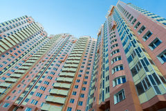 Modern multistory residential buildings in Moscow, Russia Stock Photo