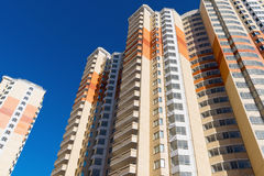 Modern multistory residential buildings in Moscow, Russia Royalty Free Stock Photography