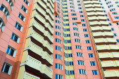 Modern multistory residential buildings in Moscow, Russia Stock Photos