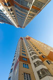 Modern multistory residential buildings Royalty Free Stock Photos
