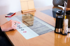 Modern multitouch-table Royalty Free Stock Image