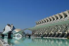 Modern museum in mooie stad Valencia stock afbeeldingen