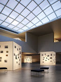 Modern Museum. A modern museum and showroom Royalty Free Stock Photos