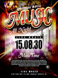 Modern music festival poster design template. With abstract background Royalty Free Stock Image