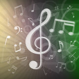 Modern music notes background Royalty Free Stock Images