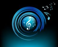 Modern Music symbols with brushes Royalty Free Stock Photos