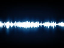 Modern music waves graph Stock Images