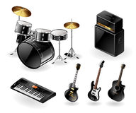 Modern musical instruments Stock Photos