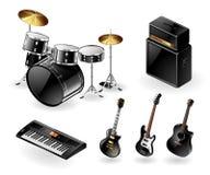 Modern musical instruments Stock Photos