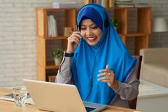 Modern Muslim woman stock photo