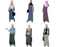 Modern muslim women Stock Images