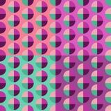 Modern naadloos abstract cirkelspatroon In neon roze kleur stock foto
