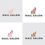 Modern Nail Salon Logo Stock Photo