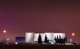 Modern national art gallery in Vilnius night scene Royalty Free Stock Images