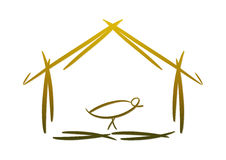 Modern nativity symbol/icon Royalty Free Stock Image