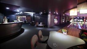 Modern nattklubb i europeisk stil Arkivbilder
