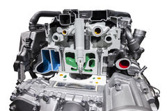 Modern natural gas car engine Stock Images
