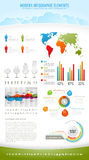 Modern nature infographic elements Stock Photos