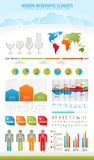 Modern nature infographic elements Stock Image