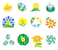 MODERN NATURE SYMBOL SET Stock Photos