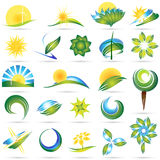 Modern nature symbol set Stock Photography