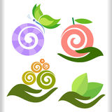Modern Nature Symbols Set Stock Image