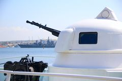 Modern naval artillery Royalty Free Stock Images
