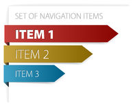 Modern navigation items Stock Photo
