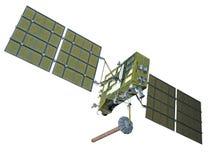 Modern navigation satellite. Isolated on white Royalty Free Stock Image