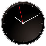 Modern negative clock Royalty Free Stock Photo