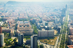 Modern neighbourhoods of Barcelona in Spain, aerial view royalty free stock photography