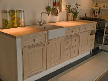 Modern neo classical design wooden country kitchen Stock Image