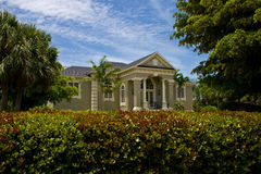 Modern Neo Classical House. Modern Neo-Classical style house with view of landscaping Royalty Free Stock Images