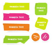 Modern neon color  banners Stock Photo