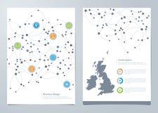 Modern Network Brochure Cover Design Stock Photography