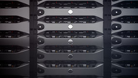 Modern Network servers in a data center. Royalty Free Stock Images