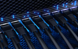 Modern network switches. Stock Photo