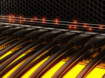 Modern network switches Royalty Free Stock Photos