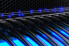 Modern network switches Stock Photography