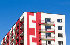 Modern and new apartment building. Royalty Free Stock Images