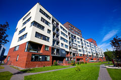 Modern and new apartment building. royalty free stock photos